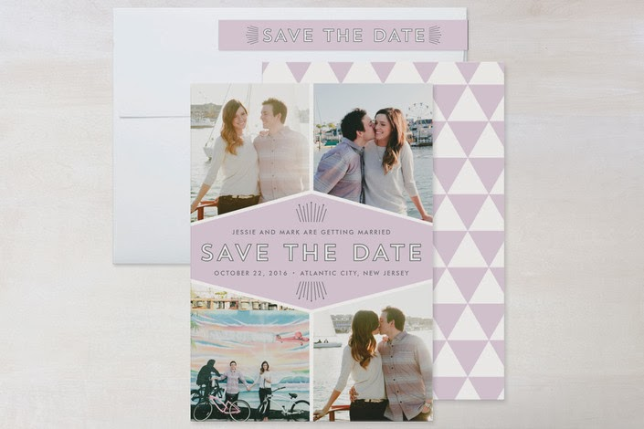 minted save the date in lilac