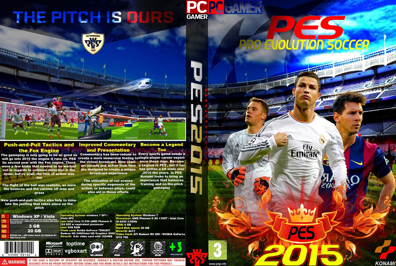 Capa PES 2015 PC