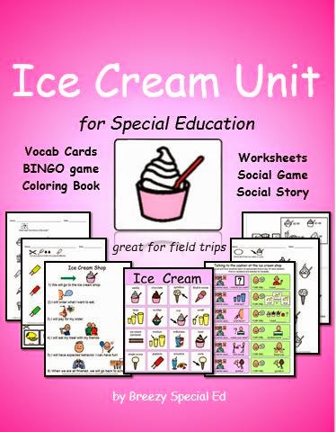 http://www.teacherspayteachers.com/Product/Ice-Cream-Unit-for-Community-Trips-special-education-1189569