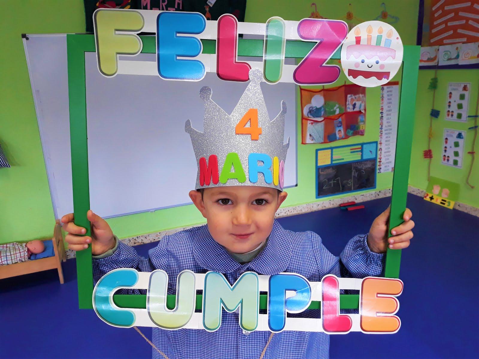 En outubro celebramos o aniversario de Mario!