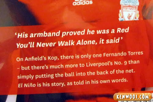 fernando torres liverpool words