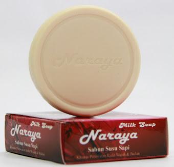 Tersedia di sini : Naraya Milk Soap, sabun susu sapi murni