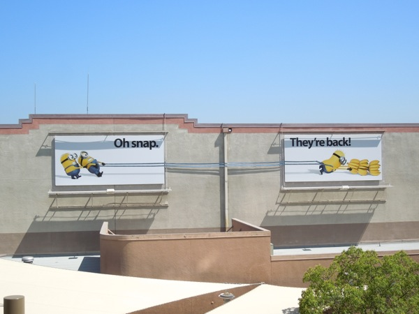 Despicable Me 2 special installation billboard