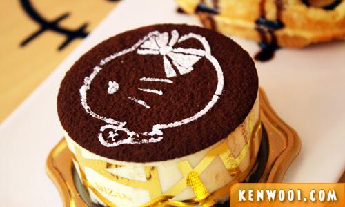 hello kitty tiramisu cake
