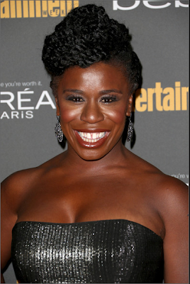 Uzo Aduba at a pre-Emmy Awards party