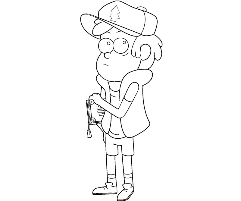 gravity falls coloring pages dipper - photo#4