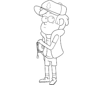 #3 Dipper Pines Coloring Page