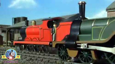 The very cross Fat Controller arrived at Brendam port onboard Thomas and friends James the train