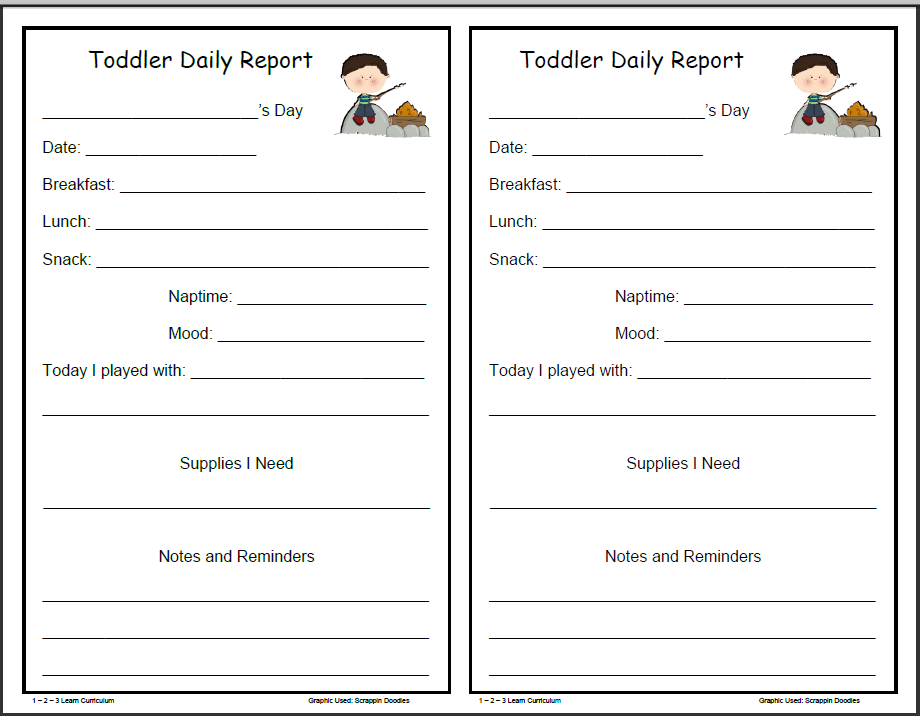 Camping fun daily forms for infants toddlers and preschoolers and