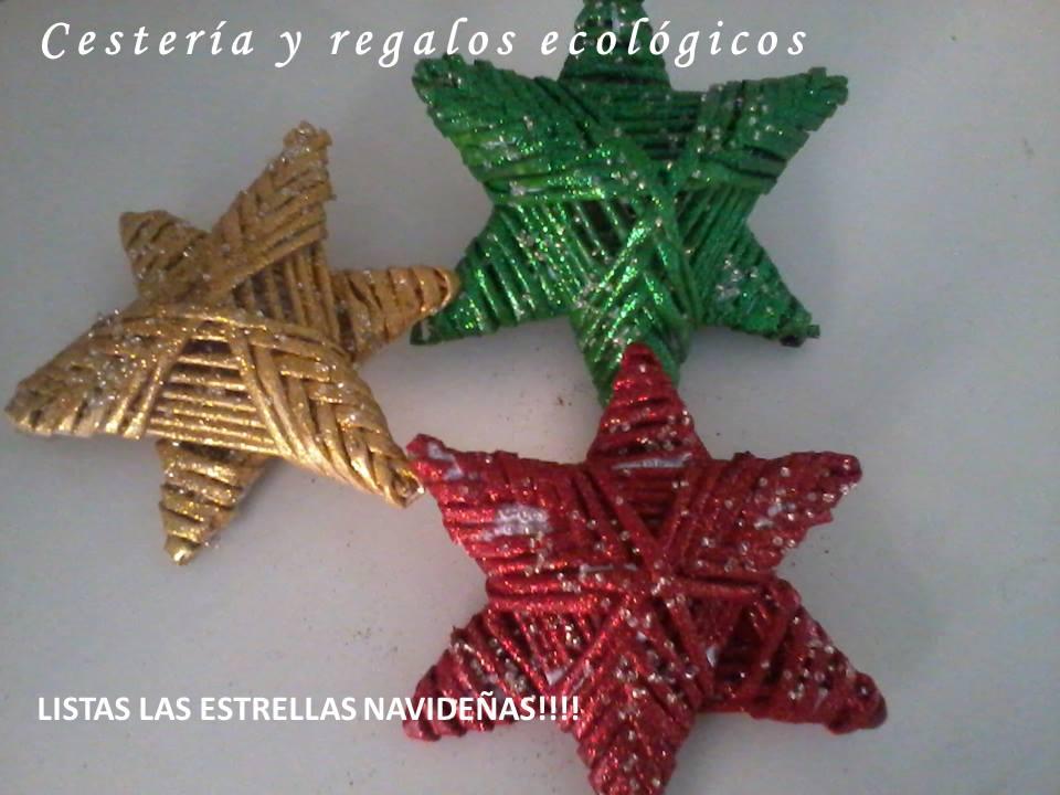 amigs estas estrellas las hice para mi rbol de navidad pero pienso que igual pueden servir para adornar algn evento o lugar son fciles y rpidas de