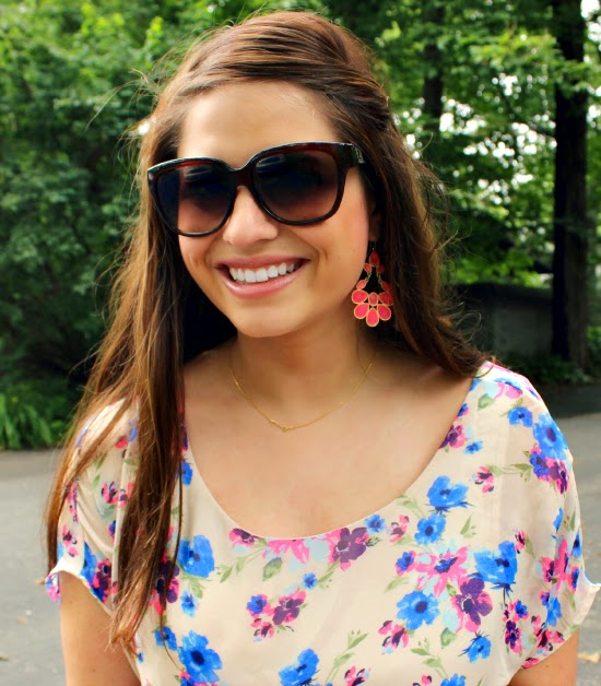 Retro Sunglasses + Florals