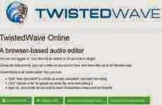 Twistedwave: editor de audio online grauito