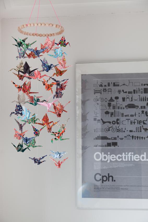 underwerket lisa grue origami crane mobile