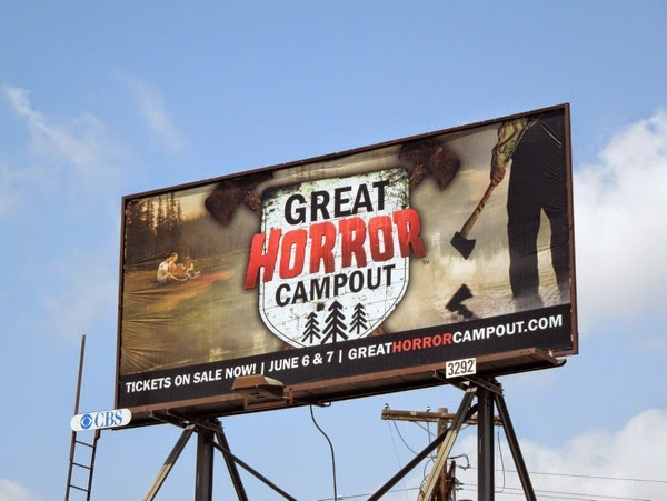 Great Horror Campout billboard 2014
