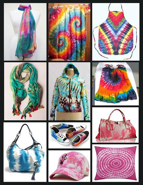 ... Koleksi pelbagai jenis produk yang menggunakan kaedah ikat dan celup