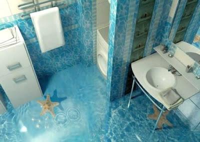 desain kamar mandi 3d unik