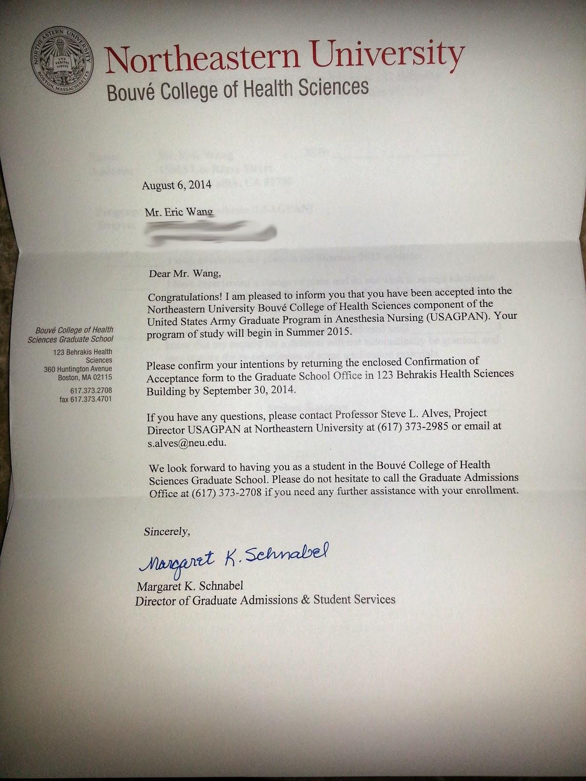 northeastern university recommendation letter northeastern university recommendation