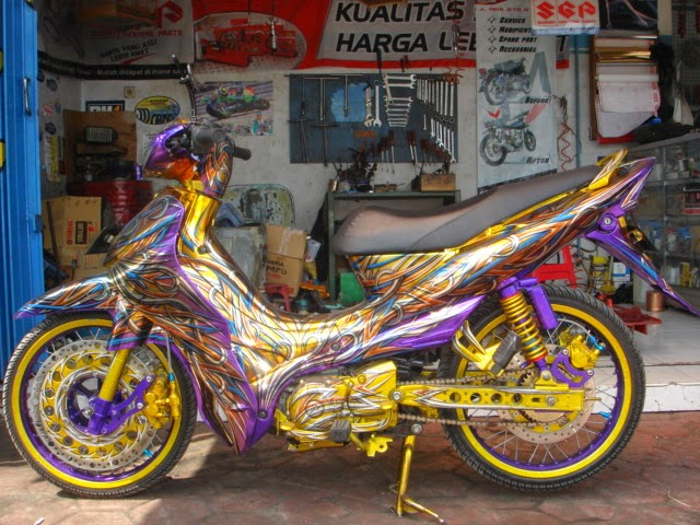 Modifikasi Air Brush Yamaha Jupiter Z