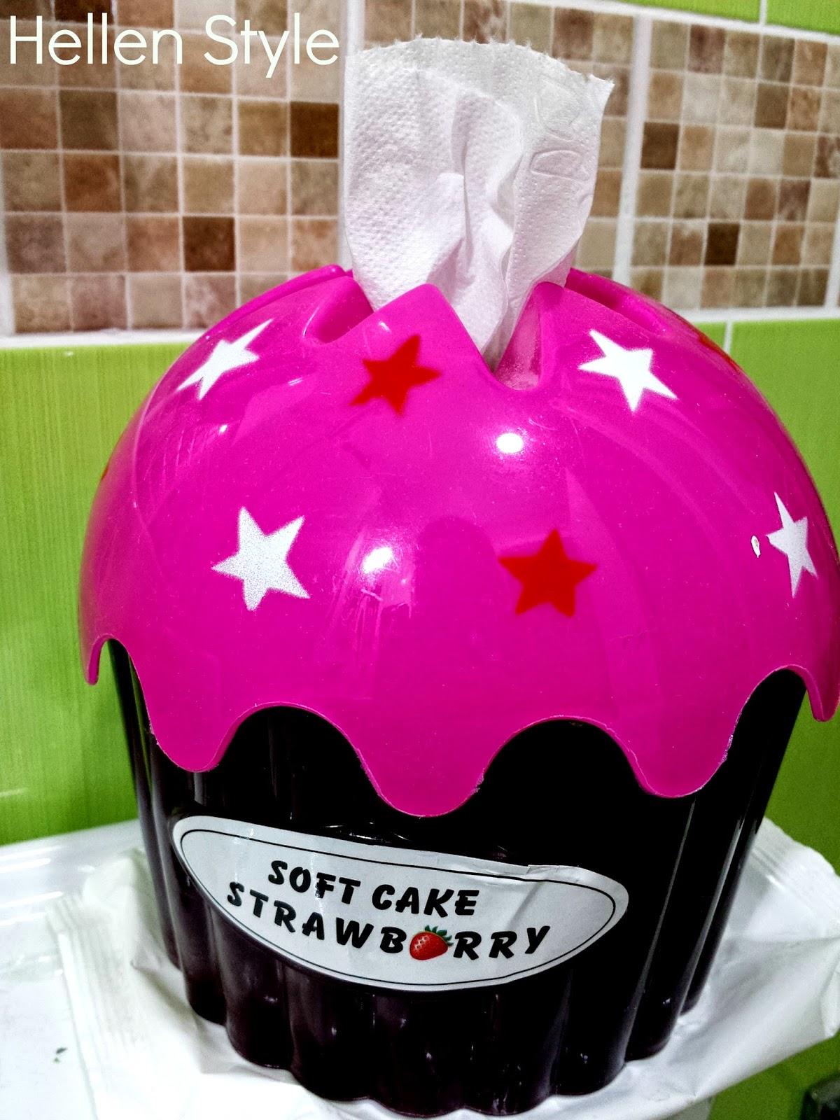 Cupcake dispensador de papel higiénico
