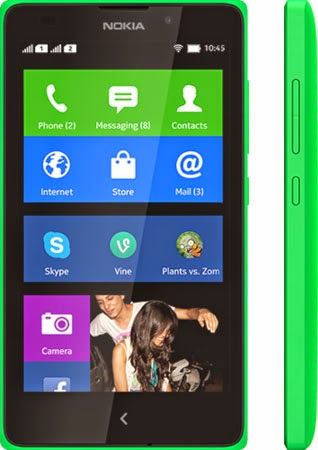 Nokia XL front green color