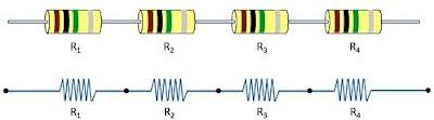 resistor yang dirangkai seri