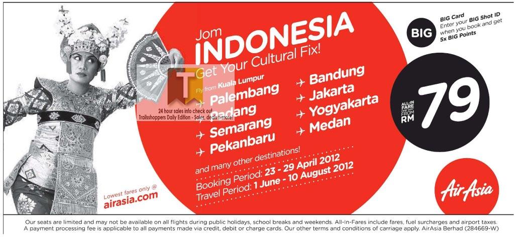 AirAsia Jom Indonesia Sale: 23-29 APR 2012 - Trailsshoppers