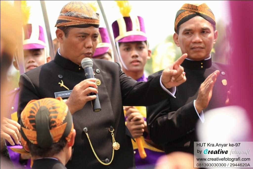 foto bupati karanganyar saat hari peringatan ulang tahun kabupaten karanganyar, solo