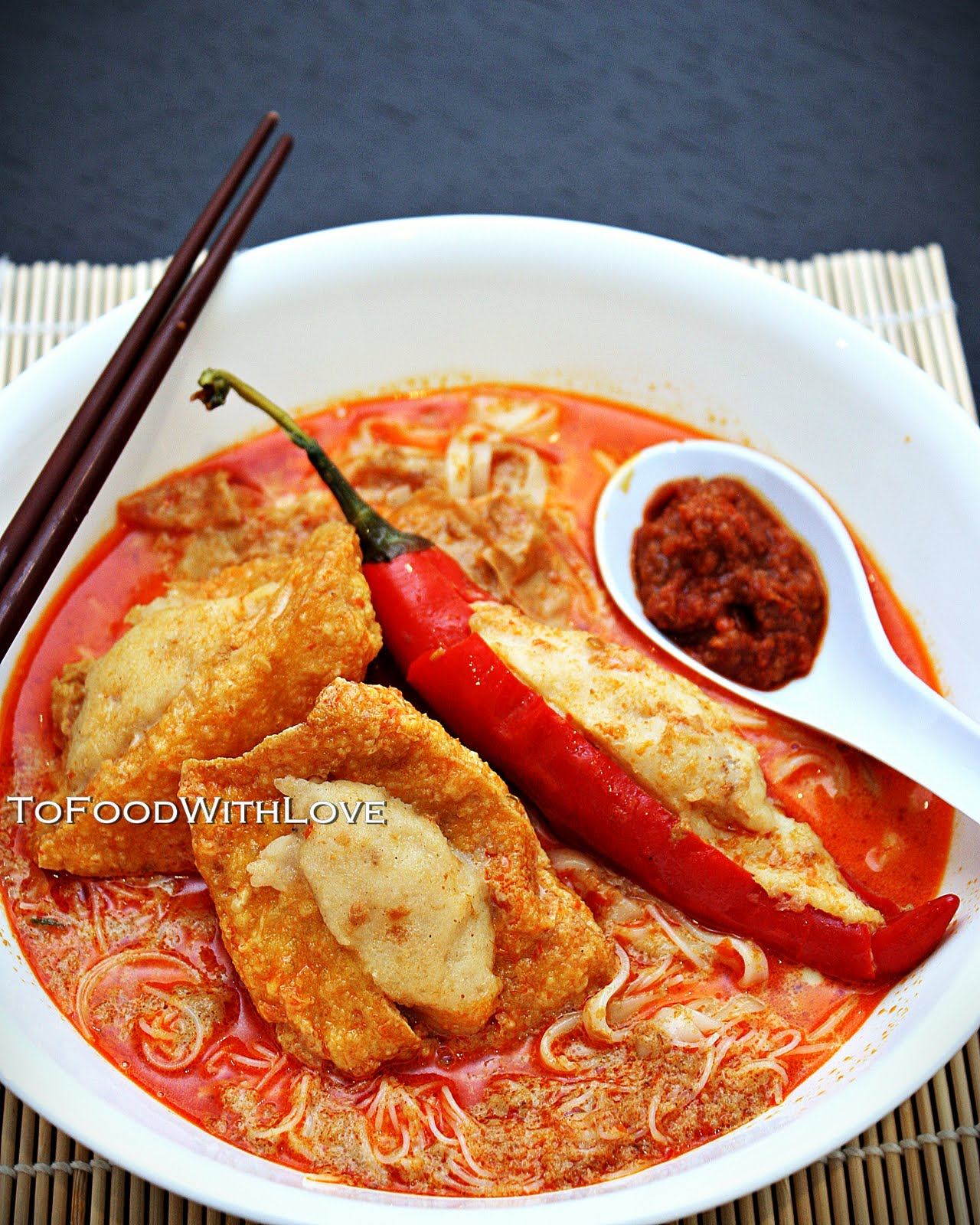 To food with love august 2011 a quick and easy yong tau foo meal using prima taste laksa packs forumfinder Images