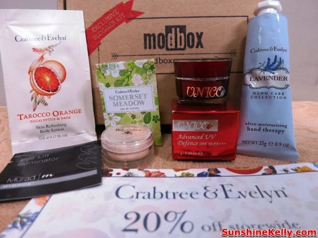 Modbox, Beauty box review, beauty box, modbox august, Your Power To Decide, choose your own sample