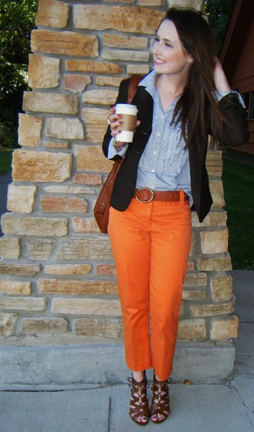 la petite fashionista orange you glad for colored pants. Black Bedroom Furniture Sets. Home Design Ideas