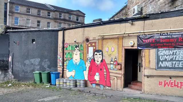 Tennents McKinnon Bar graffiti Glasgow