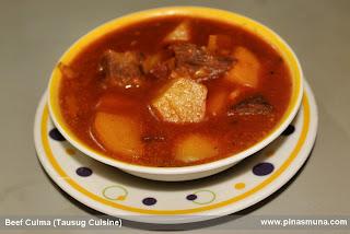 Tausug dish called Beef Culma or Beef Curma