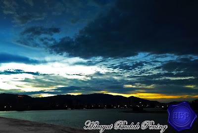 sunset, cahaya malam, landscape, permandangan, matahari terbenam