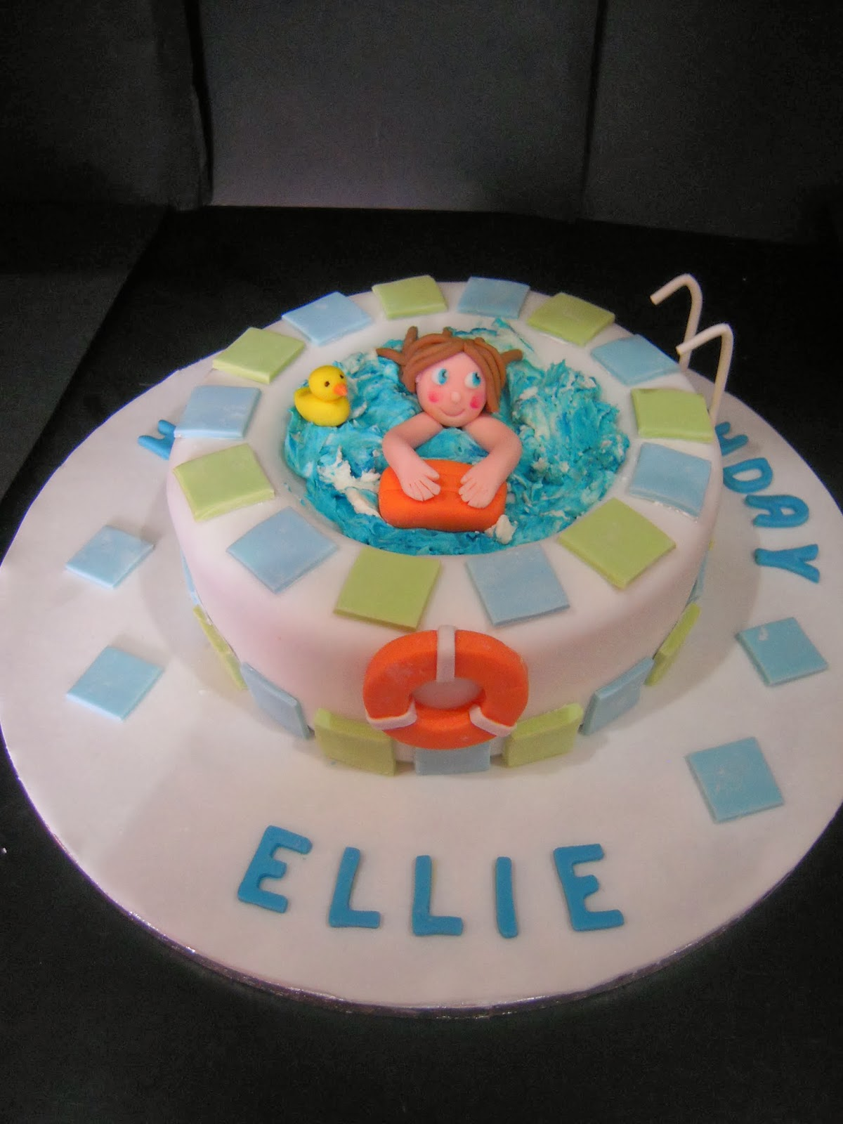 Eileen atkinson 39 s celebration cakes swimming pool birthday cake for Swimming pool birthday cake pictures