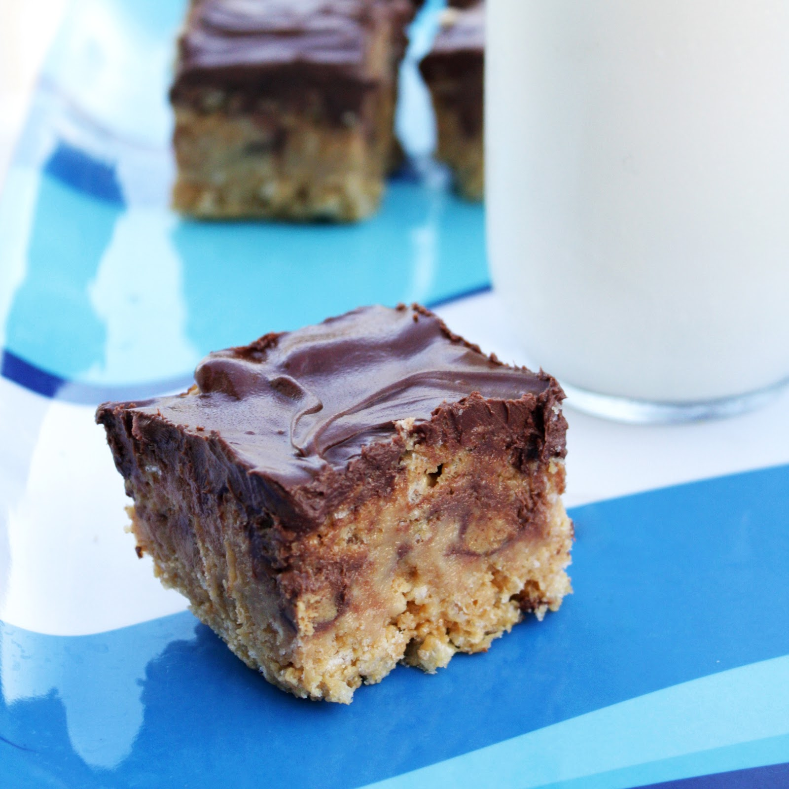 Chocolate Therapy: Peanut Butter Cup Rice Krispie Treats