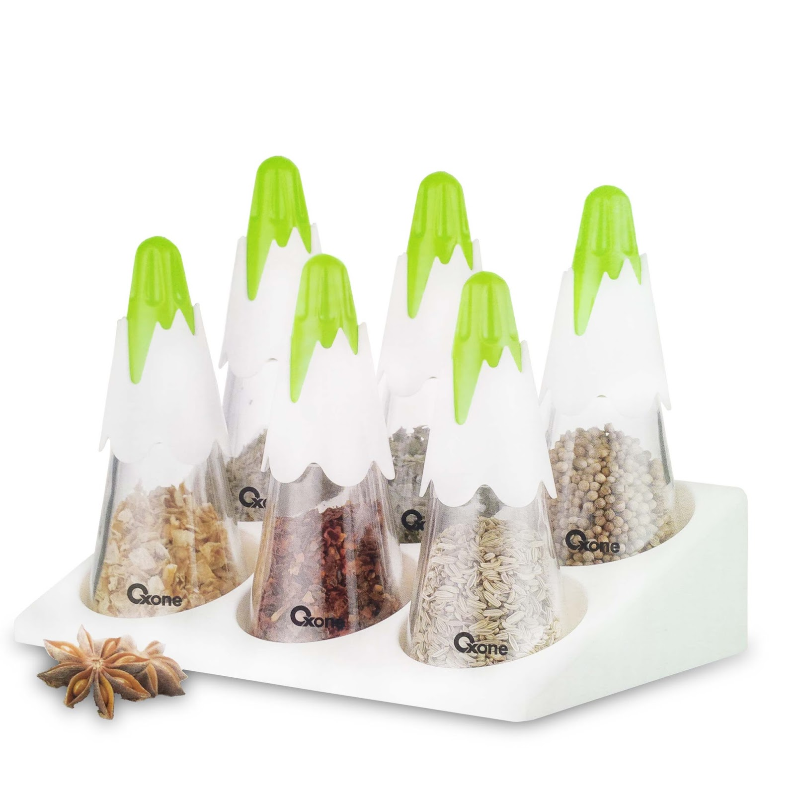 OX-341 Snowy Spice Set Oxone with Rack
