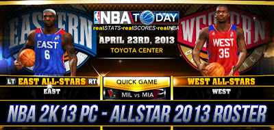 NBA 2K13 Unlock All-Star Teams Roster