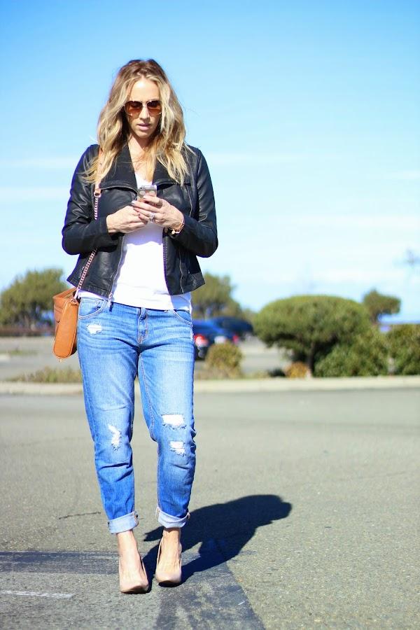 moto jacket street style