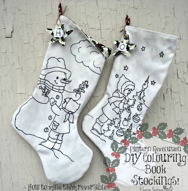 make your own coloring book stockings - Make Your Own Coloring Book