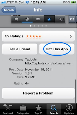 Gift This App iPhone Application