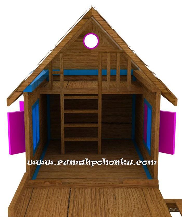 desain playhouse indonesia playground kayu