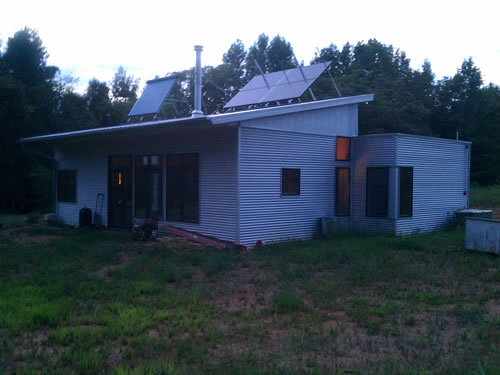 Tidying Up The Passive Solar Prefab Home
