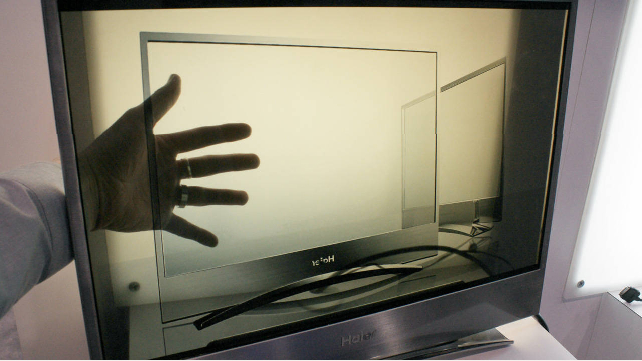 Haier TV - transparent with Innovative Idea 