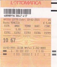 IL 10 FEBBRAIO 2011 AMBO SECCO SU VENEZIA CON VINCITA DI 1.250 EURO