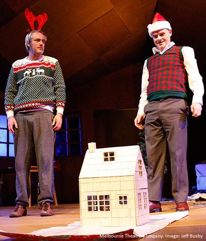 Hayden Spencer and Darren Gilshenan in Elling