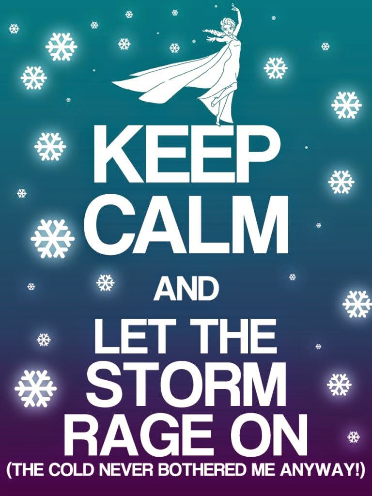 frozen  keep calm free printable signs