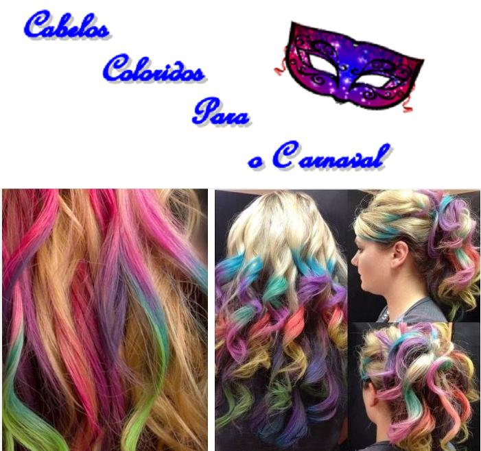 Giz colorido para cabelos