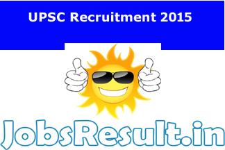 UPSC Recruitment 2015