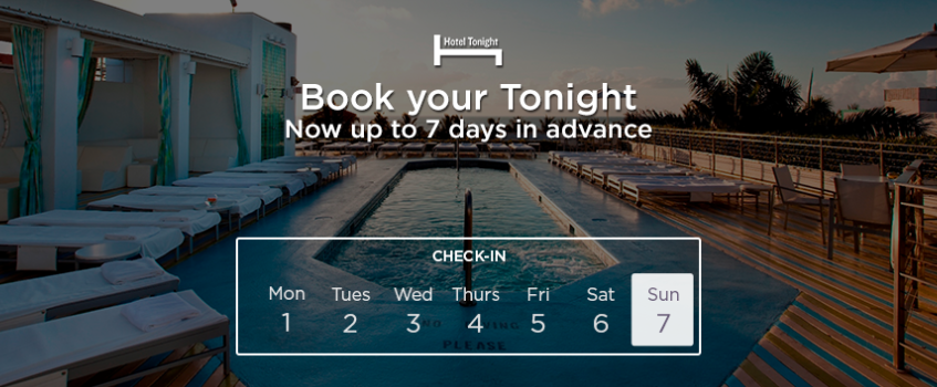 HotelTonight rezerwacje do 7 dni wprzod, nie tylko last minute