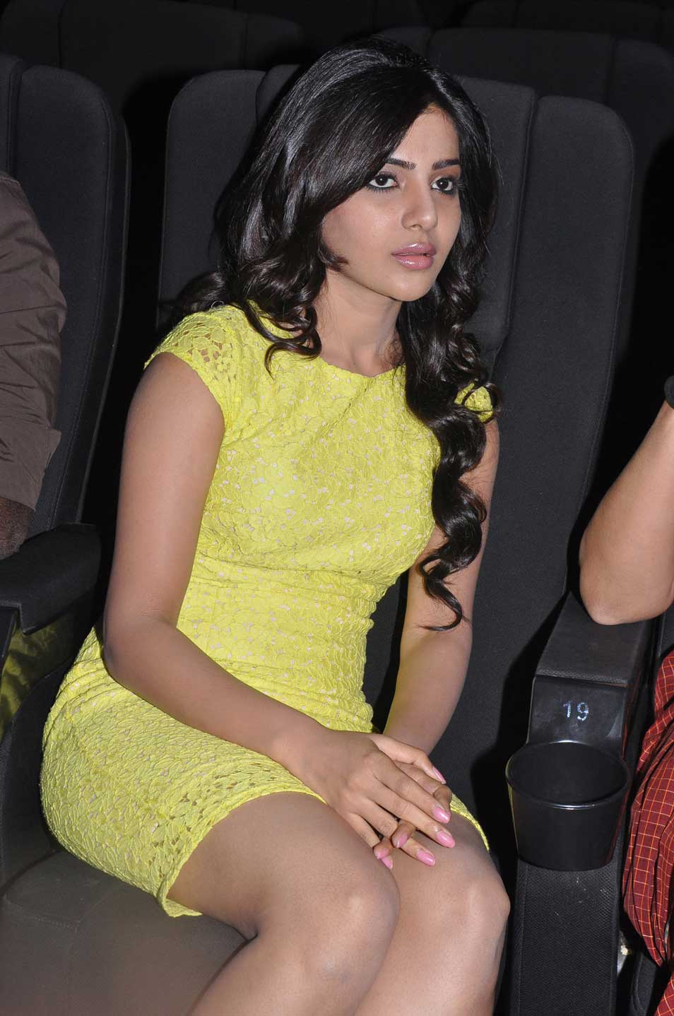 Samantha Ruth Prabhu Photos In Yellow Dress Hairstyles